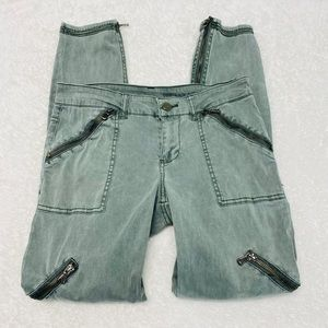 Blank NYC Camo Green Moto Skinny Jeans Size 26